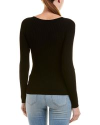 Vince - Black Ribbed Top - Lyst