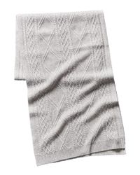 Quinn - Gray Qi Cashmere Cashmere Cable Stitch Scarf - Lyst