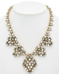 Sparkling Sage - Metallic 14k Plated Crystal Necklace - Lyst