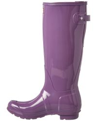 Hunter - Purple Women's Original Adjustable Gloss Boot - Lyst
