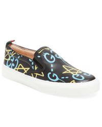 f42bac6bde6 Lyst - Gucci Ghost Leather Slip-on Sneaker in Blue