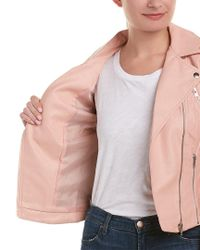 Romeo and Juliet Couture - Pink Moto Jacket - Lyst