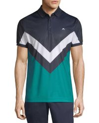 J.Lindeberg - Blue Golf Arvid Racing Printed Polo for Men - Lyst
