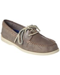 Sperry Top-Sider - Gray Women's A/o Quinn Leather Boat Shoe - Lyst
