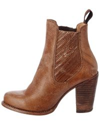 Bed Stu - Brown Insight Leather Bootie - Lyst
