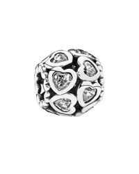 Pandora - Metallic Silver Cz Love All Around Charm - Lyst