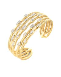 David Yurman - Metallic David Yurman Confetti 18k 0.55 Ct. Tw. Diamond Cuff Bracelet - Lyst