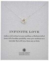 Dogeared - Metallic Seasonal Inifinte Love Necklace - Lyst