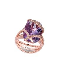 Le Vian Multicolor ® 14k Rose Gold 10.91 Ct. Tw. Diamond & Amethyst Ring
