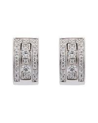 Damiani - Metallic 18k 0.25 Ct. Tw. Diamond Earrings - Lyst