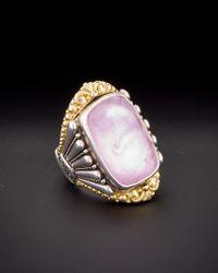 Konstantino - Multicolor Iliada 18k & Silver 30.00 Ct. Tw. Mother-of-pearl Gemstone Doublet Ring - Lyst