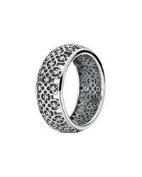 Pandora - Metallic Silver Cz Lattice Ring - Lyst
