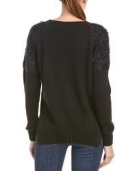 Anine Bing - Black Anine Bing Fuzzy Shoulder Wool-blend Sweater - Lyst