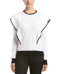 Haute Rogue - White Paneled Sweater - Lyst