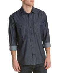 Cutter & Buck - Blue Equinox Denim Woven Shirt for Men - Lyst