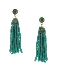 Sparkling Sage Green 14k Plated Resin Drop Earrings