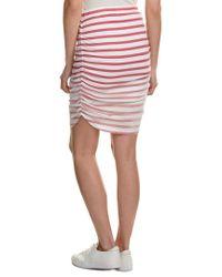 Splendid - Pink Shirred Pencil Skirt - Lyst