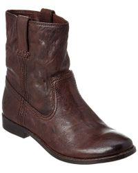 Frye | Brown Women's Anna Shortie Leather Bootie | Lyst
