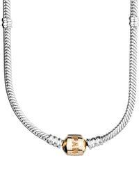 Pandora | Metallic 14k & Silver Charm Necklace | Lyst