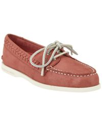 Sperry Top-Sider - Pink A/o Quinn Leather Boat Shoe - Lyst