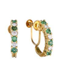 Heritage Tiffany & Co. - Metallic Tiffany & Co. 18k 1.00 Ct. Tw. Diamond & Emerald Drop Earrings - Lyst