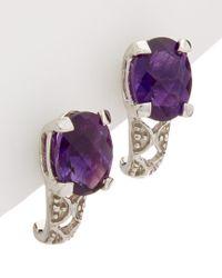 Effy - Purple Fine Jewelry 14k 2.23 Ct. Tw. Amethyst Earrings - Lyst