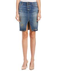 Joe's Jeans | Blue Jesenia Button Up Pencil Skirt | Lyst