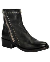 Frye - Black Demi Rebel Leather Bootie - Lyst