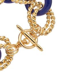 Kenneth Jay Lane - Metallic Gold Plated Resin Bracelet - Lyst