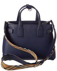 Burberry - Blue Handbags - Lyst