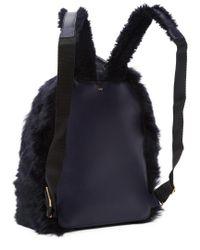 Anya Hindmarch - Black Shearling Mini Backpack - Lyst
