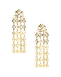 Sparkling Sage - Metallic 14k Plated Drop Earrings - Lyst