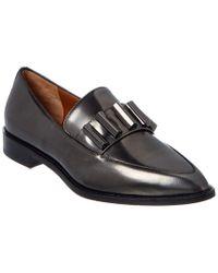Aquatalia Black Gwendolyn Waterproof Leather Loafer
