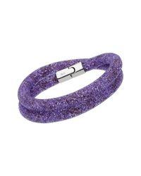 Swarovski - Purple Crystal Stardust Plated Convertible Bracelet - Lyst