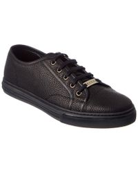Gucci - Black Leather Sneaker for Men - Lyst