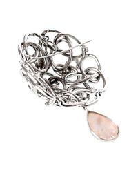 Faraone Mennella - Multicolor 18k 0.45 Ct. Tw. Diamond, Mother-of-pearl & Pearl Pin - Lyst