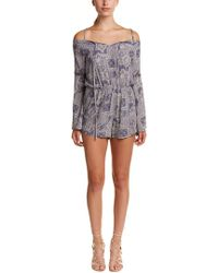Sage the Label - Gray Knots Romper - Lyst