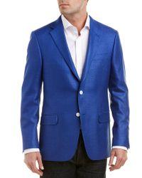 Hickey Freeman Blue Milburn Ii Silk & Wool-blend Sportcoat for men