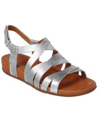 ba8f17befa6e Fitflop Lumy Leather Sandal in Metallic - Lyst
