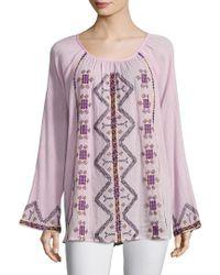 Antik Batik - Pink Tolata Blouse - Lyst