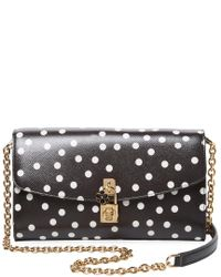acbb7d200cde Lyst - Dolce   Gabbana Dolce Leather Crossbody in Black