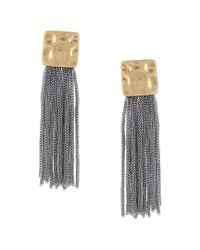 Sparkling Sage - Blue 14k Plated Tassel Earrings - Lyst