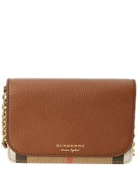 Burberry Brown Hampshire House Check & Leather Wallet