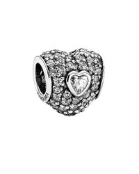 Pandora - Metallic Silver Cz In My Heart Charm - Lyst