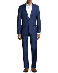 Aspetto - Blue Crease Notch Lapel Suit for Men - Lyst