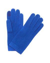 Portolano - Blue Women's Cashmere Tech Gloves - Lyst