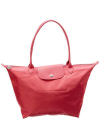 8dbc2a2c5c82f Longchamp Le Pliage Neo Large Nylon Tote in Pink - Lyst
