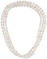 Splendid - Metallic 9-10mm Freshwater Pearl 64in Necklace - Lyst