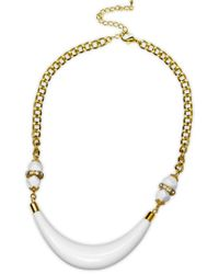 Gottex - Metallic 18k Plated Crystal & Lucite Necklace - Lyst