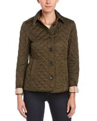 Burberry - Green Ashurst Diamond Quilted Jacket - Lyst